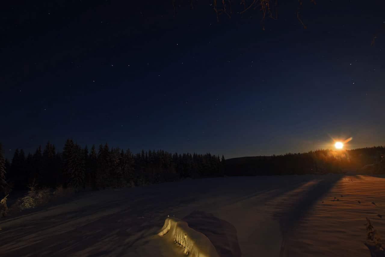 Foto-Webcam Mondaufgang in Älvsbyn Schweden