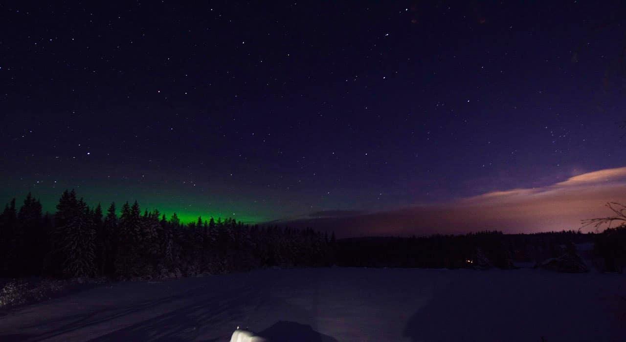 Nordlicht mit Photo Webcam fotografiert